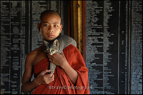 Monk with pet